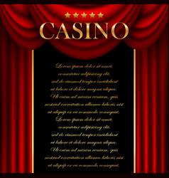 Advertising casino vector