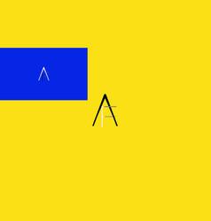 Af three colors vector