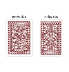 backside of playing cards dark red vector image