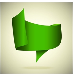 banner for the text green front vector image