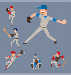 Baseball team player sport man in uniform vector
