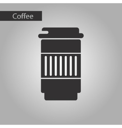 Black and white style coffee to go vector