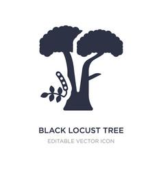 Black locust tree icon on white background simple vector