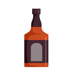 Bottle of rum icon flat style vector