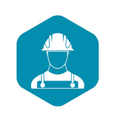 Builder icon in simple style vector