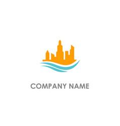 Building cityscape company logo vector