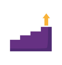 business stairs step arrow up vector image