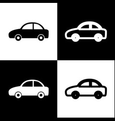 Car sign black and white vector