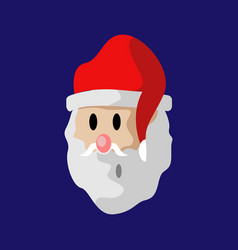 cartoon santa claus face vector image