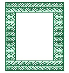 Celtic Key Pattern - green frame border vector