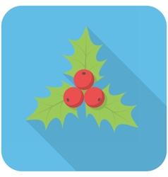 Christmas holly icon vector