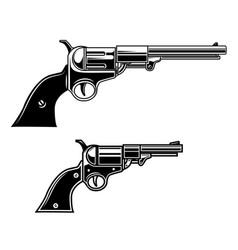 Cowboy revolvers design element for logo label vector