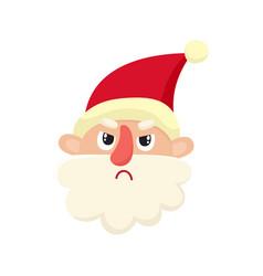Cute santa claus upset cartoon vector
