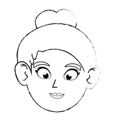 cute women face vector image