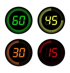 Digital Countdown Timer vector image