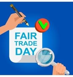 Digitally generated Fair Trade vector image