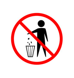 do not litter sign vector image