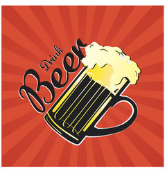Drink beer beer mug background image vector