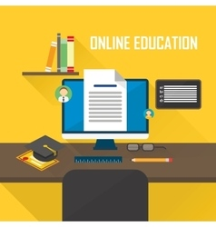 E-learning computer vector