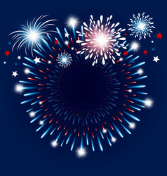 fireworks background with copy space vector image