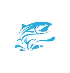 fish logo template creative symbol image vector image