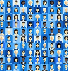 Flat design background different people character vector