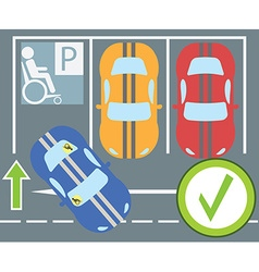 Flat design modern parking a car instruction vector