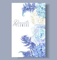 Floral blue border vector