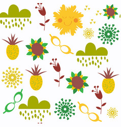 floral fantasy abstract seamless pattern in vector image