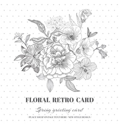 Floral Shabby Chic Card vector
