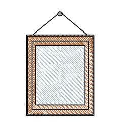 Frame photo wooden hanging image vector