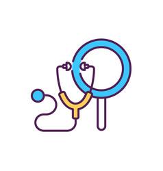 General practitioner doctor rgb color icon vector
