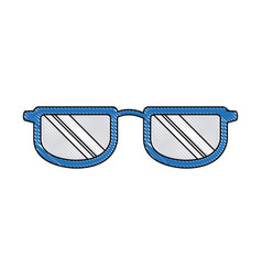 glasses accessory frame fashion trendy vector image