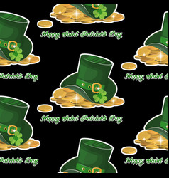 green st patrick s day hat with vector image