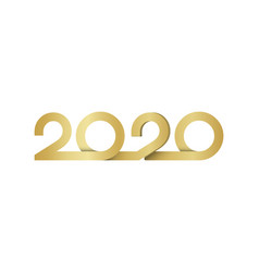 happy new year 2020 logo text design letters vector image