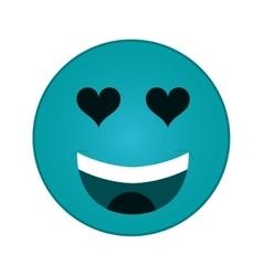 heart eyes emoticon icon vector image