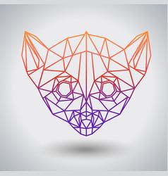 Hipster polygonal animal lemur triangle animal vector