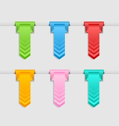 Hung bookmarks vector image