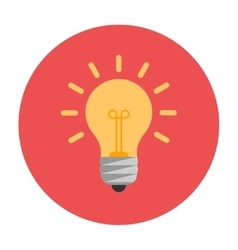 Lightbulb flat icon vector