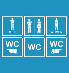male and female wc icon denoting toilet vector image