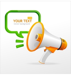 megaphone speech templates for text vector image