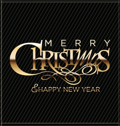 Merry christmas black background vector image