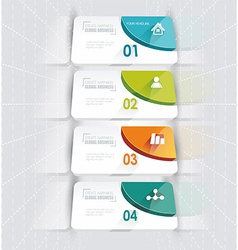 Modern options bannercan be used for workflow vector