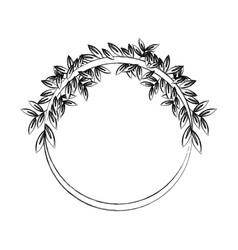 natural laurel wreaths round for emblem vector image