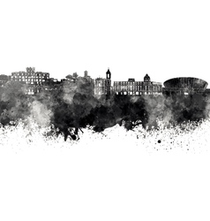 Nice skyline in black watercolor on white vector image