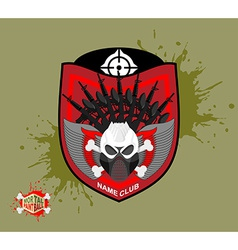 Paintball logo skul protection mask Heraldic vector image