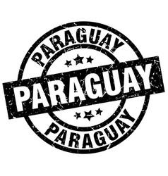 Paraguay black round grunge stamp vector
