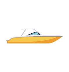 Private speed motor cutter boat isolated on white vector
