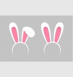 rabbit ear hat happy easter web banner greeting vector image