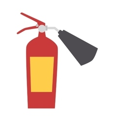 Red fire extinguisher isolated vector